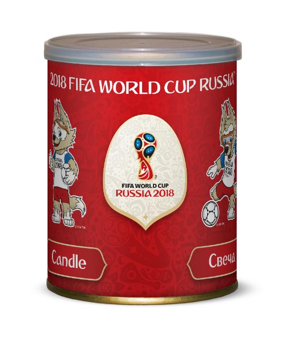 Свеча FIFA красная в большой банке 1