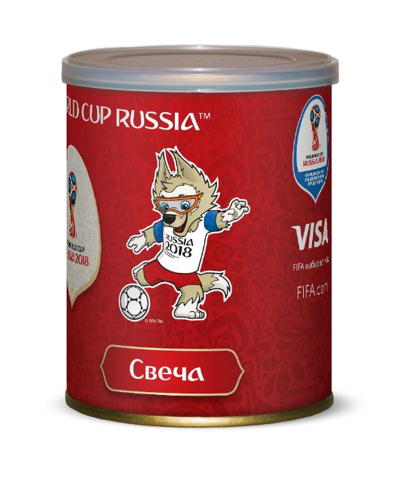 Свеча FIFA красная в большой банке 2